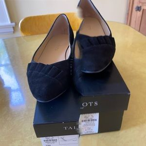 Talbots leather suede women's  flats